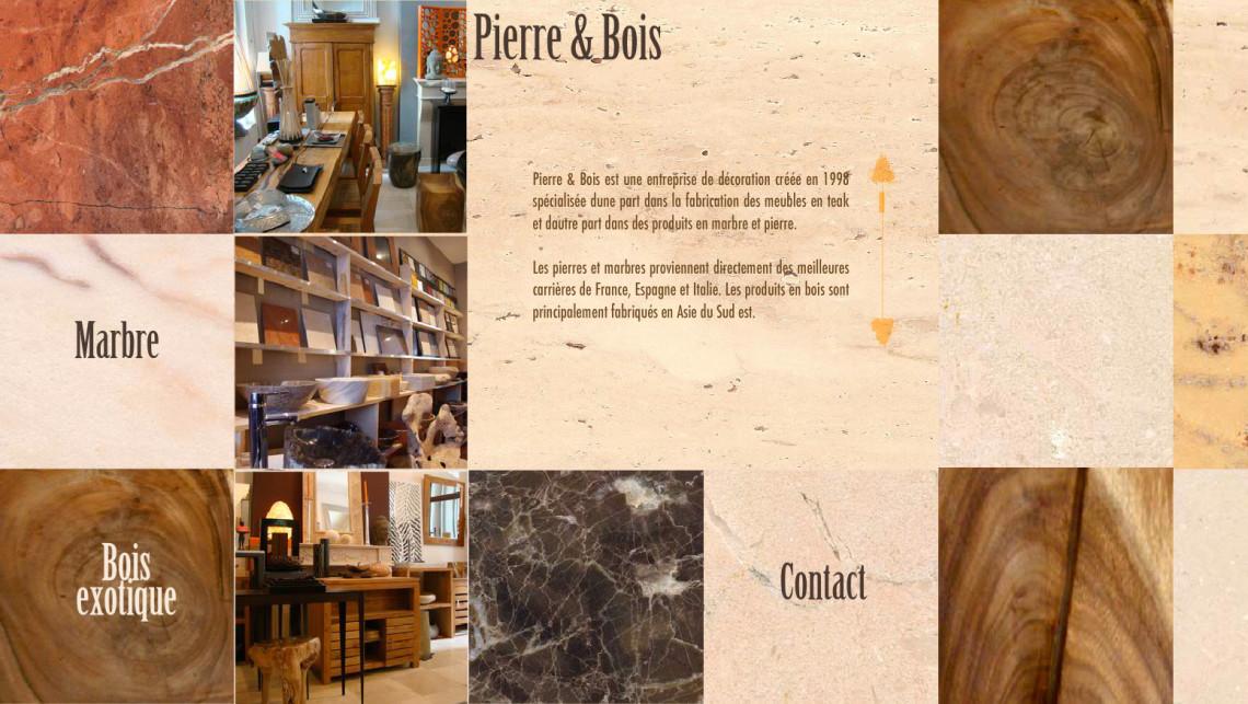 Site web d'une boutique des meubles