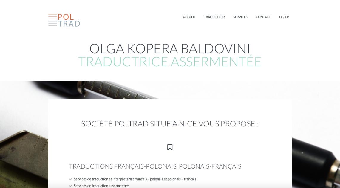 Site web – entreprise de traductions