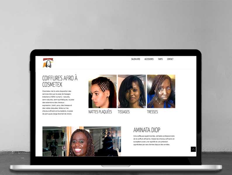 Site vitrine pour un salon de coiffure afro