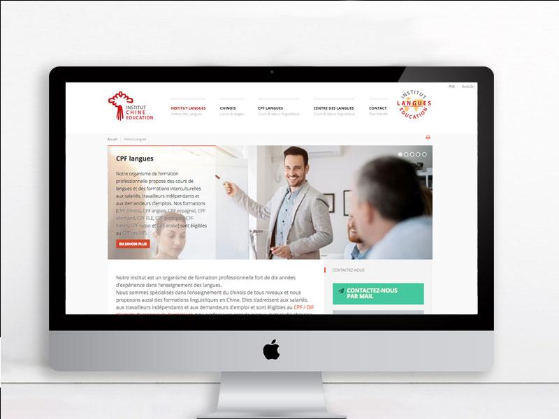 Site web responsif – Institut des Langues